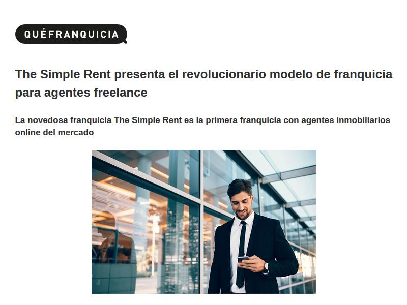 The Simple Rent, un revolucionario modelo para Agentes Freelance.