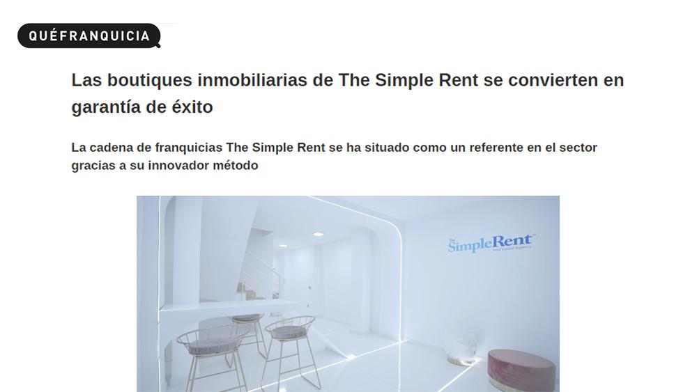 The Simple Rent boutique, garantía de éxito.
